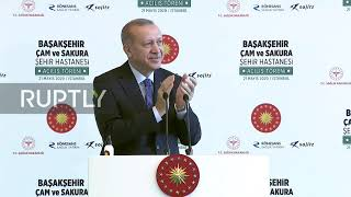 "Turkey: Abe joins Erdogan via videolink for inauguration of Istanbul""s largest hospital"