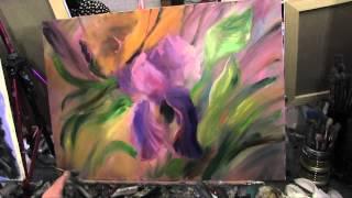 пишем ирис, художник Сахаров, уроки живописи в Москве, для начинающих