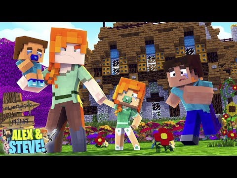 Minecraft ALEX TAKES THE BABIES AWAY FROM STEVE!!! Life of Alex & Steve