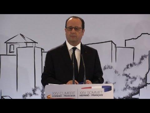 Espagne:Hollande réagit au passage en force des migrants à Ceuta