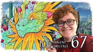 100 Dragons Challenge - 67 | Cactus Dragon