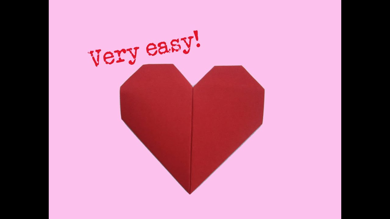 Fold Heart Very Easy Way How To Make A Paper Heart Folding