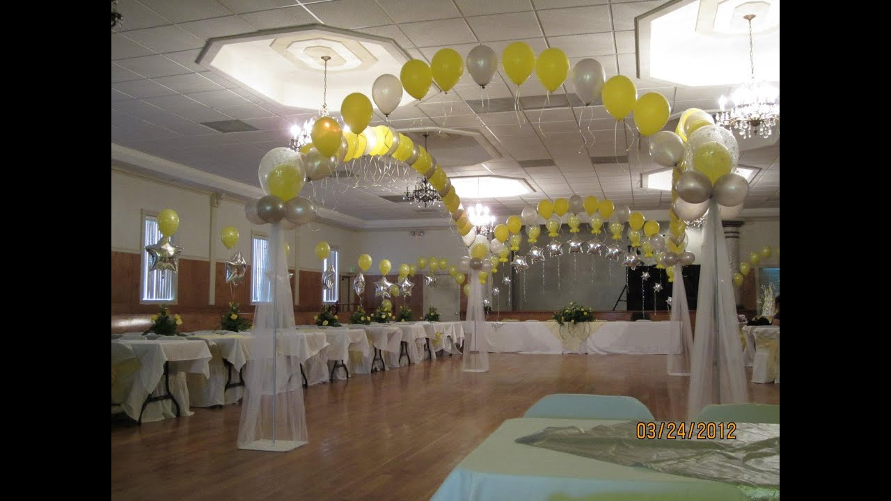 Decoracion para quincea os de vanessa decoraciones con for Decoracion con globos