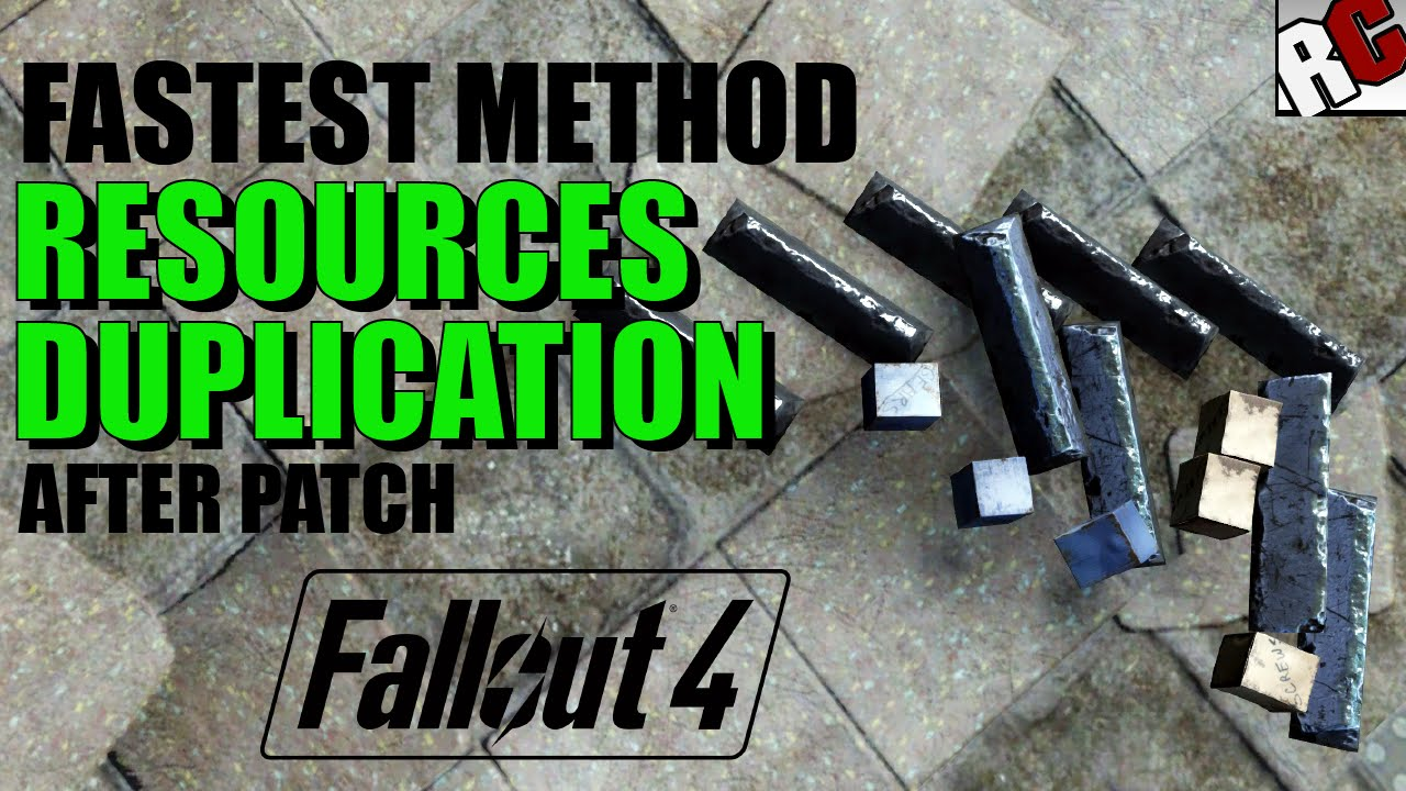 Fallout 4 craft unlimited items glitch / exploit after patch.