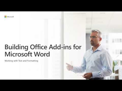 Build Office Add Ins For Microsoft Word