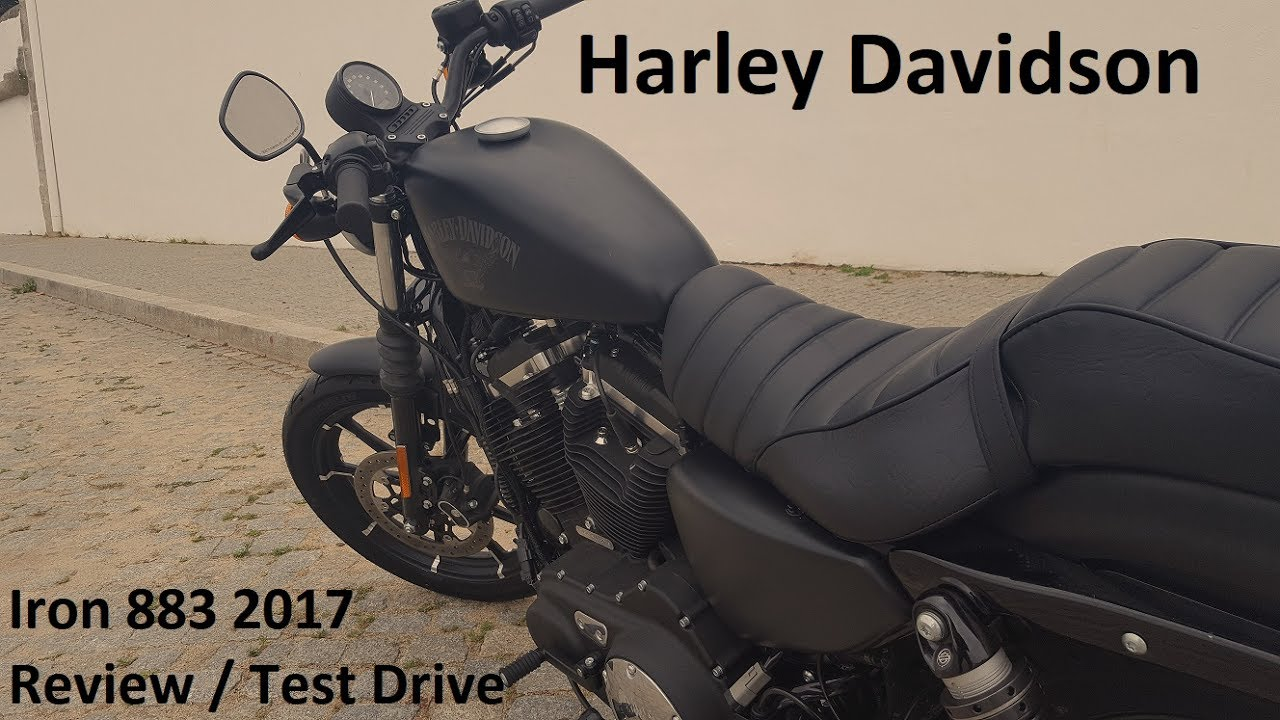 harley davidson 883 iron 2017 review / test drive - youtube