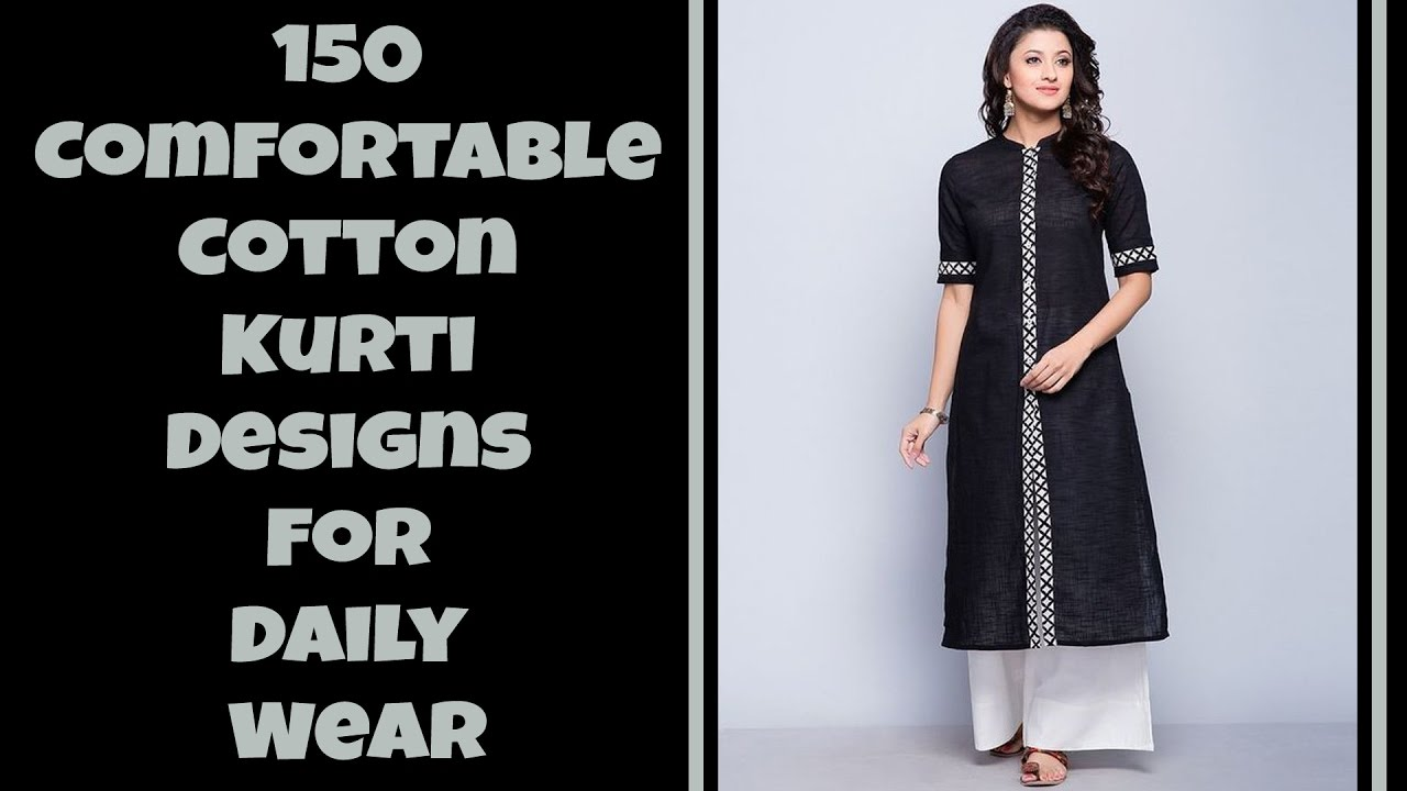 1e852f6e8367b 150 Comfortable Cotton Kurti Designs For Daily Wear - YouTube