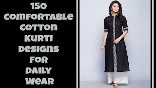 150 Comfortable Cotton Kurti Designs For Daily Wear