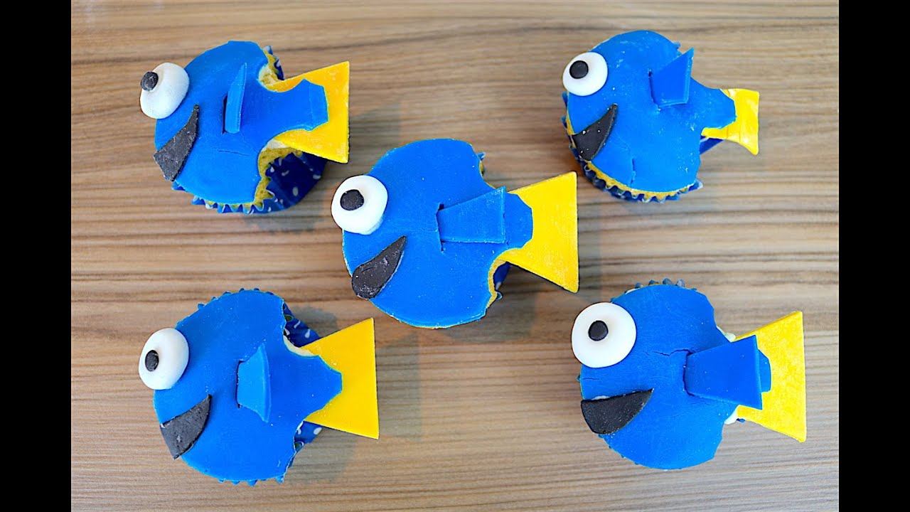 Easy Finding Dory Cupcakes How To Tutorial CarlyToffle YouTube