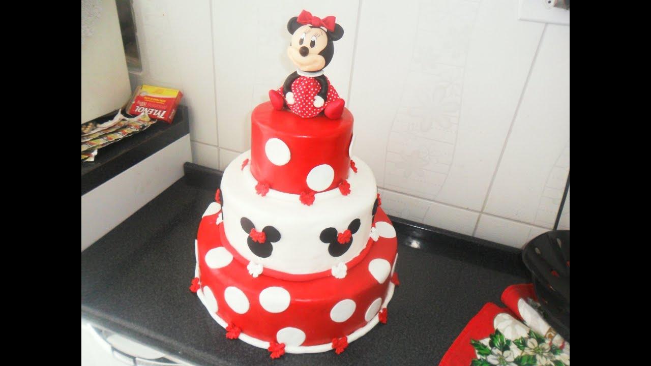 Decoracao fazendinha luxo bolo falso ccs decoracoes eventos car - Bolo Fake Minnie Vermelha Youtube Decoracao Minnie Vermelha 1 Aninho