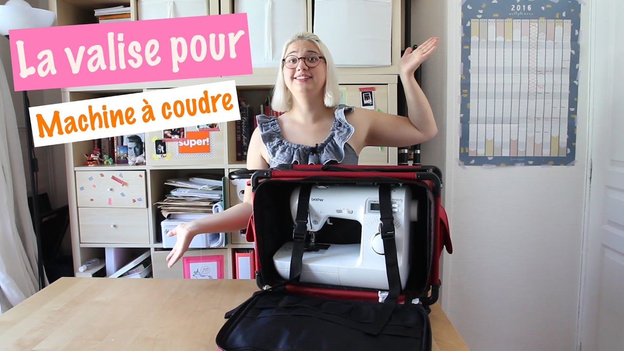 la valise pour machine coudre couture d butant youtube. Black Bedroom Furniture Sets. Home Design Ideas