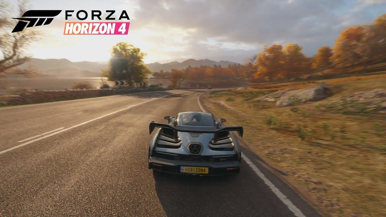 forza horizon 4 gameplay - all four seasons! mclaren senna, off-road