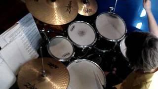 ben my bro playing drums