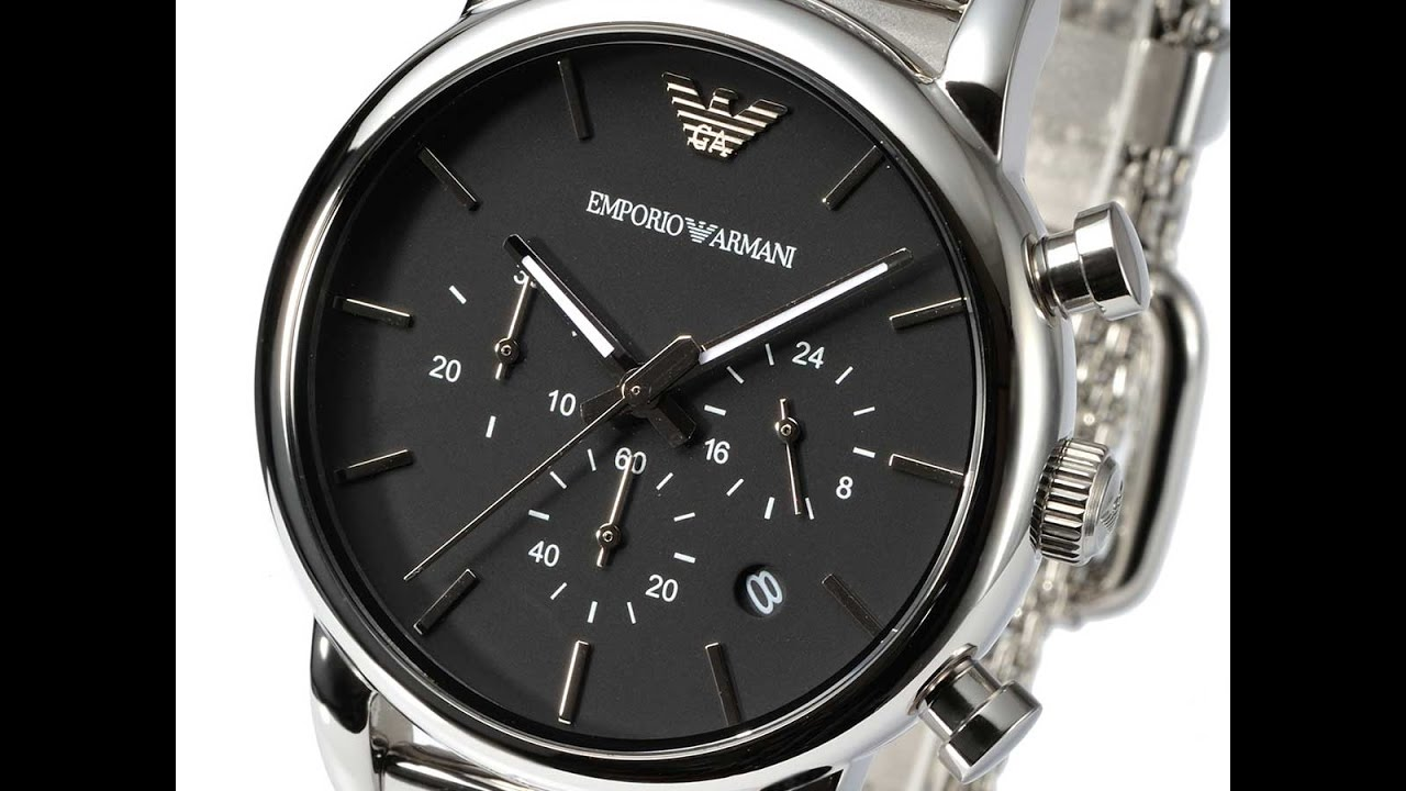 eefaf23eb59 EMPORIO ARMANI AR1811 MENS WATCH CLASSIC CHRONO SILVER STAINLESS MESH  REVIEW アルマーニ シルバー レビュー メンズ