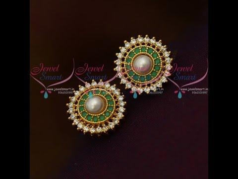Latest Women Round Stud Earring Designs