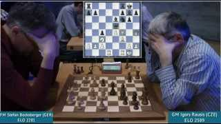 Chess Grandmaster Igors Rausis being crushed by an amateur