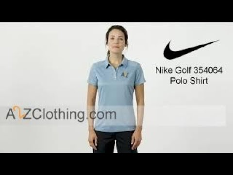 Nike Golf 354064 Women Dri FIT Pebble Texture Polo Shirt With Custom Embroidery - A2ZClothing.com