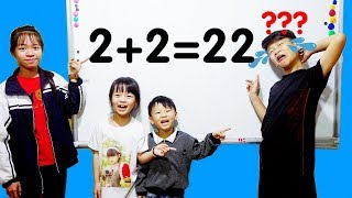 Hunter Kids Go To School Count Numbers and Learn Math | Learn Colors Classroom Funny Nursery Rhymes