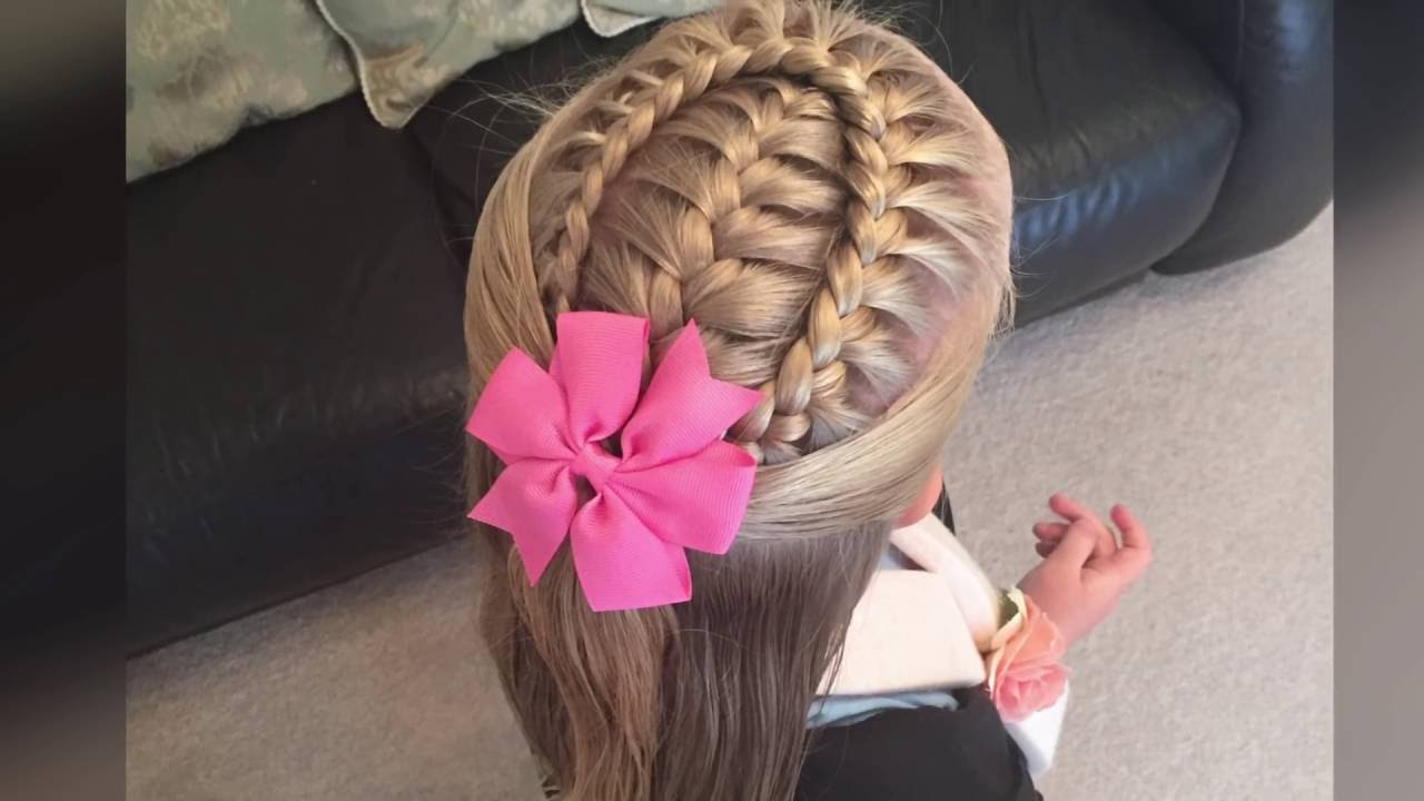 French braid with a lace braid wrap tutorial by Two Little Girls Hairstyles  YouTube