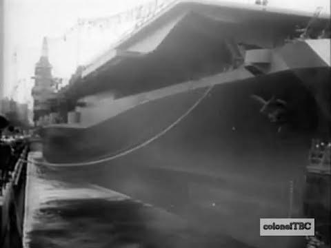 Aircraft carrier is named for President Roosevelt - 27 October 1945