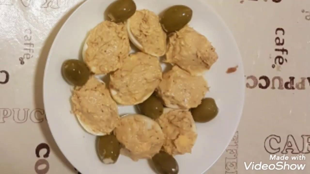 Рецепты от Андрея самая простая закуска яйца фаршированные лук и рыбная консерва