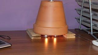 Candle Powered Air Heater  - grzejnik z doniczki - jak zrobić