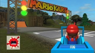 MARIO KART IN ROBLOX GAME!