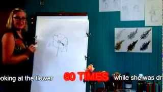 How to do an observational drawing of a flower for kids