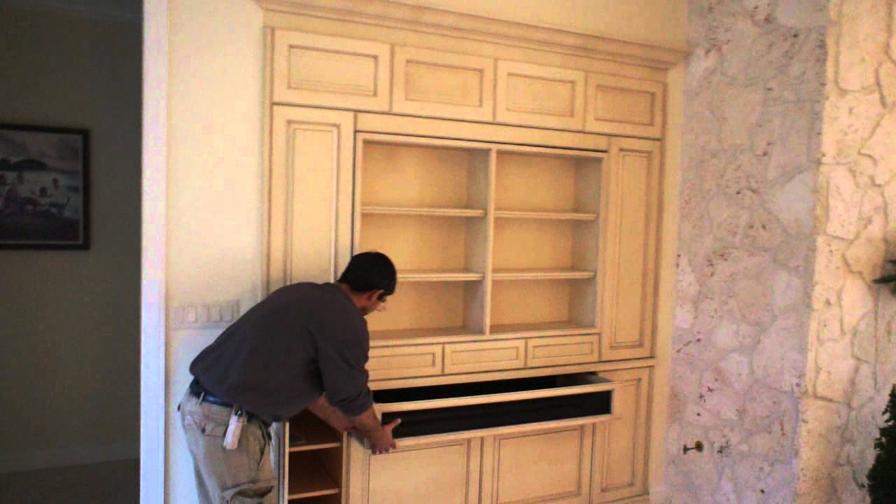 Custom TV. Cabinet, Wall Unit In Naples FL 239 513 0089   YouTube
