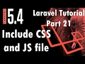 Laravel 5.4 Tutorial | Include CSS and JS file | Part 21 | Bitfumes