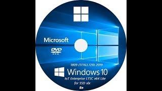 Активация сборки Windows 10 IoT Enterprise LTSC X64 Lite 1809 (17763.720) En For SSD Xlx