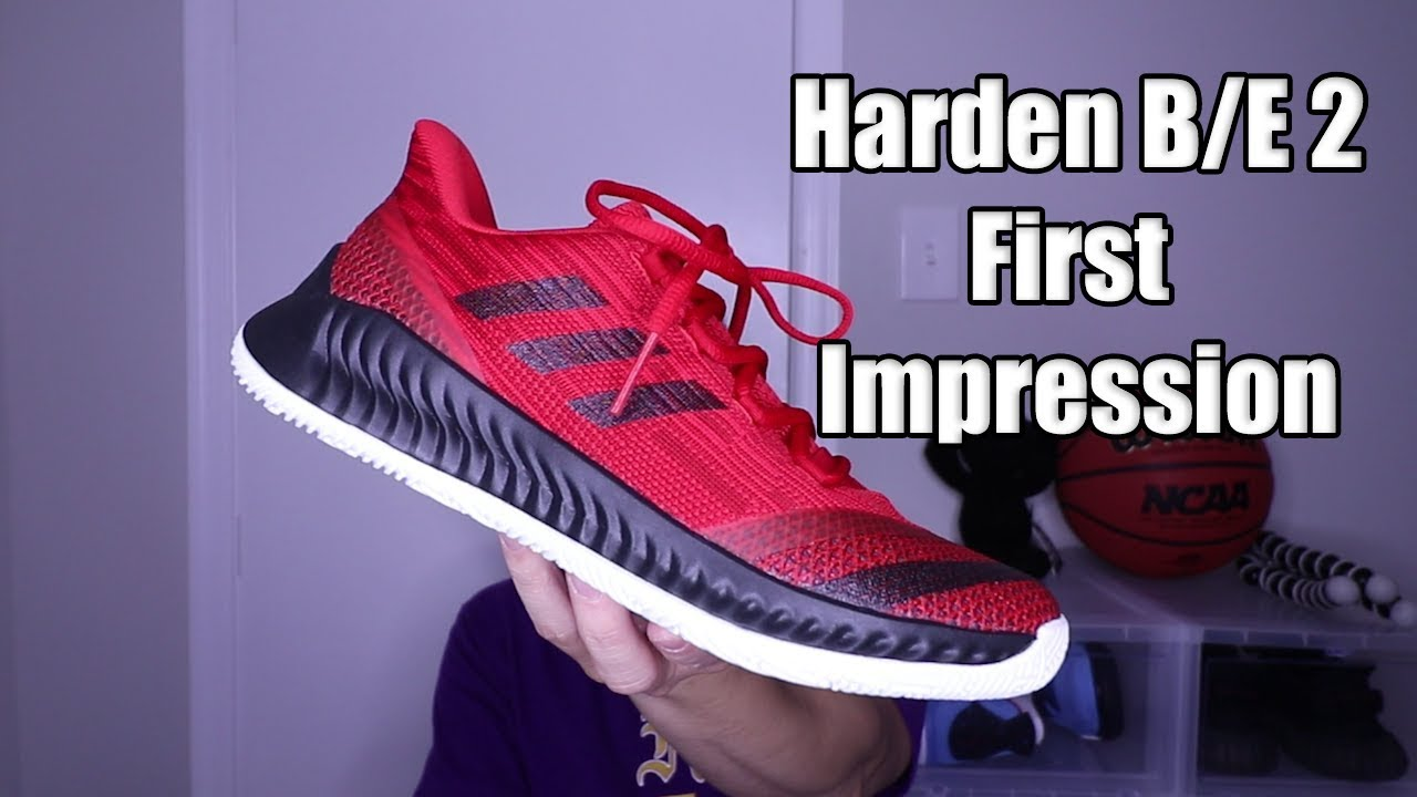 Adidas Harden B E 2 Review   First Impression - YouTube 9ad143810