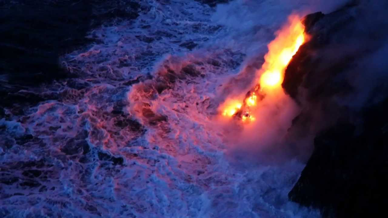 Falling Skies Wallpaper Molten Lava Pouring Into Sea Hawaii Summer 2013 Youtube