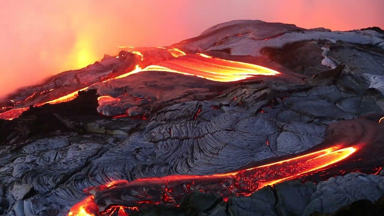 Wallpaper Art Falling Molten Lava Pouring Into Sea Hawaii Summer 2013 Youtube