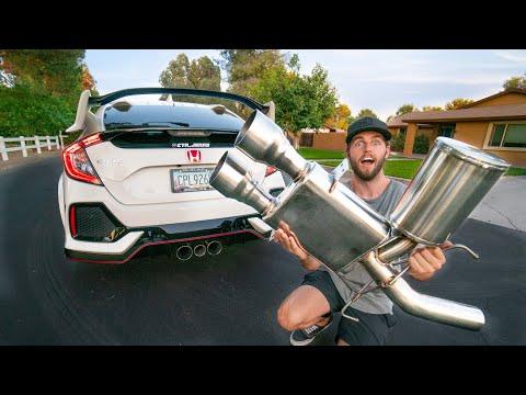 THE BEST EXHAUST!! Perrin Honda Civic Type R Catback
