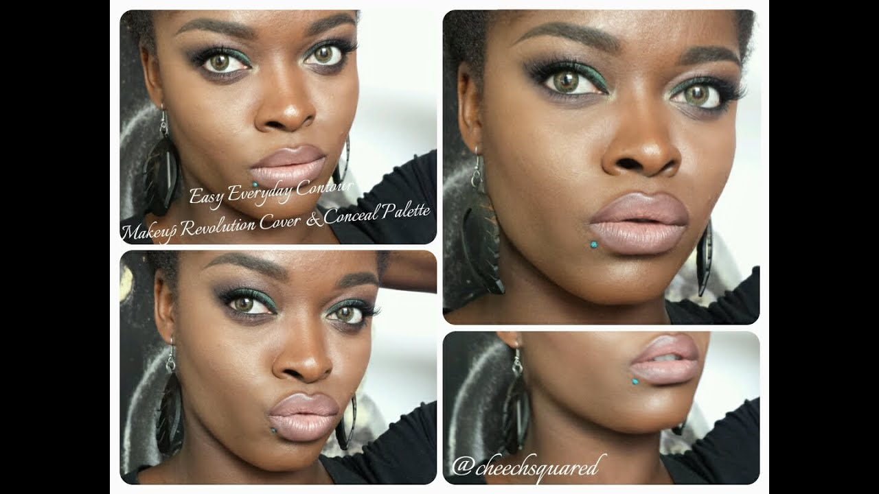 Natural Contouring feat. Makeup Revolution Cover & Conceal Palette ...