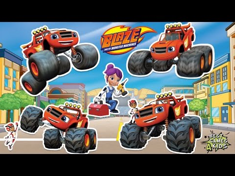 Playtime With Blaze And The Monster Machines #5 | Axel City's Fastest Monster Truck By Nickelodeon