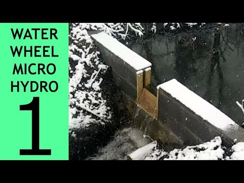 Waterwheel Microhydro P1, The Dam