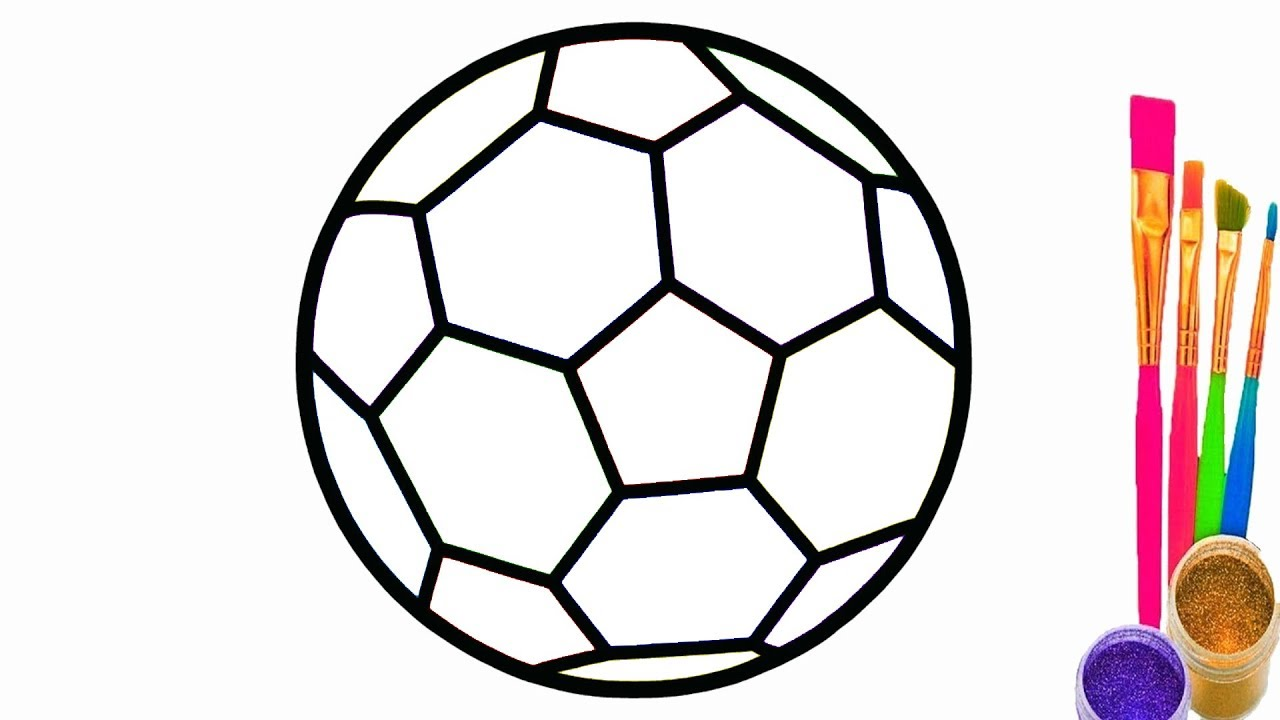 Learn Colors with Soccer Balls for Children | How to Draw Soccer ...
