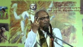 01 of 01 Stree Parvam of Mahabharatam by Mallapragada Sreemannarayana Murthy(Episode 40)