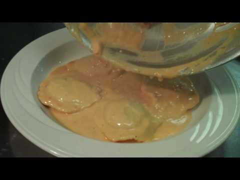 Lobster Ravioli in Lobster Cream Sauce