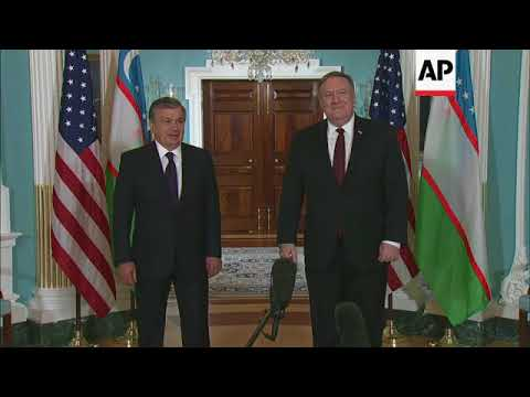 US Secretary of State Mike Pompeo hosts Uzbekistan leader