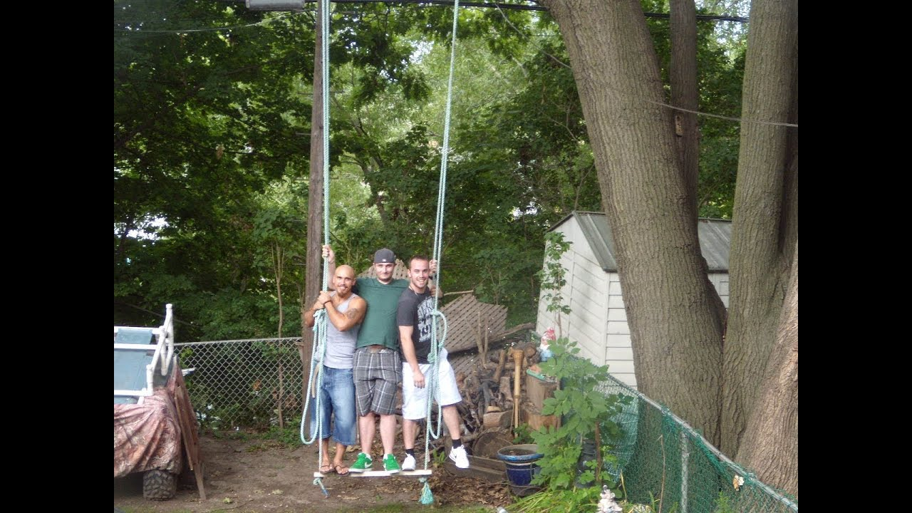 How to build a tree swing - Home Improvement Tips For Outdoor Fun Add A Tree Swing