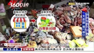 舌尖上的浪費 台灣人日產「4」萬桶廚餘【3600秒】