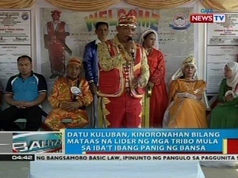 Datu Kuluban, kinoronahang bilang mataas na lider ng mga tribo mula sa iba't ibang panig ng bansa