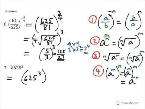 Exponents. Questions on Fractional (Rational) Powers. (C1