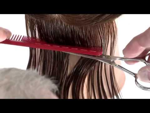 How to cut women's hair Triangular Graduation Bob Haircut Preview ...