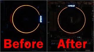 How to Rotate AMD Spire Heat Sink - AMD Ryzen microATX Video Editing PC Build