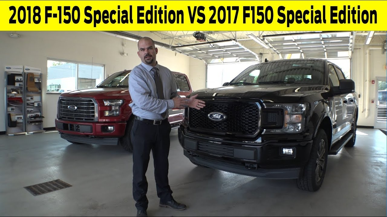 2018 Ford F 150 Xlt Special Edition Vs 2017