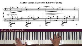 Gustav Lange Blumenlied Op. 39 (Flower Song) Piano Tutorial